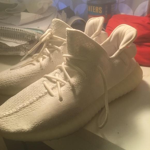 713bf20463d Shoes | Yeezy 350 V2 Cream White Size 11 Supreme Bape | Poshmark